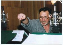 Ladislav Frej při natáčení hry Kodaň