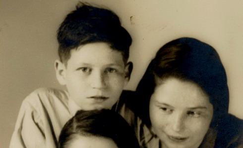 Wally Teltscherová, manželka R. Teltschera, s dětmi