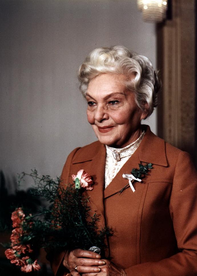 Herečka Jiřina Šejbalová