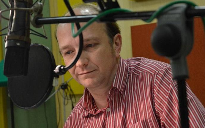 Jan Vondráček při natáčení hry