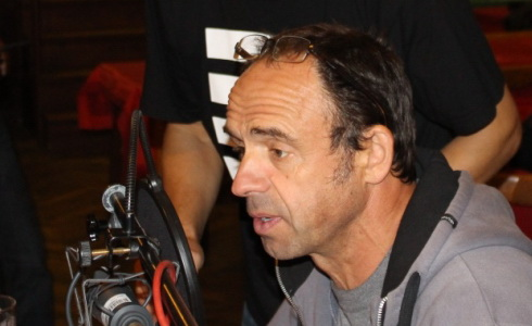 Petr Forman při natáčení hry Rybník