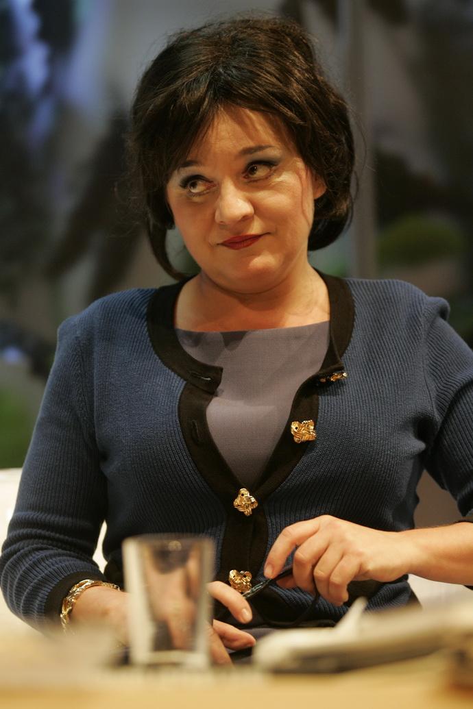 Herečka Monika Horká v inscenaci Bůh masakru