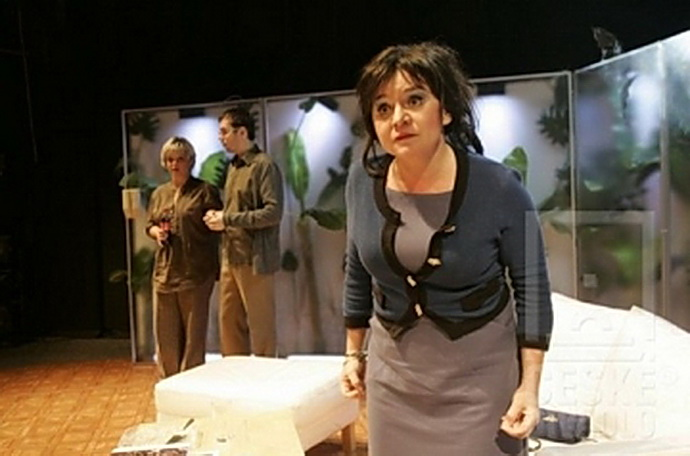 Monika Horká v inscenaci Bůh masakru