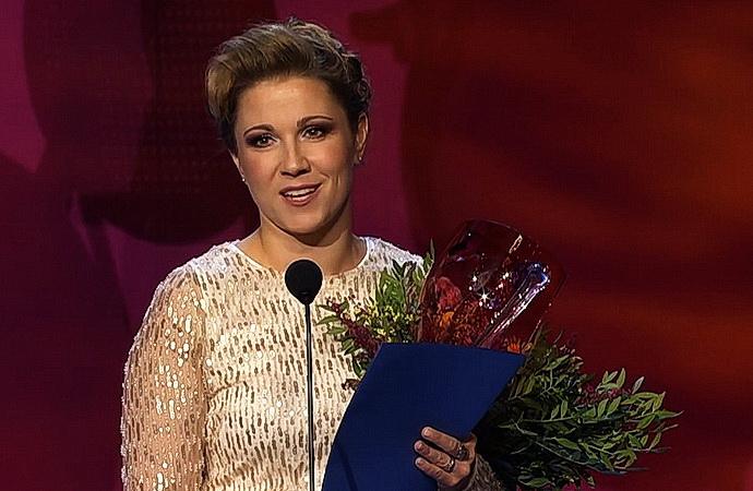 Kateřina Kněžíková při předání Ceny Thálie