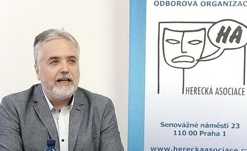 Prezident Herecké asociace Ondřej Kepka na TK