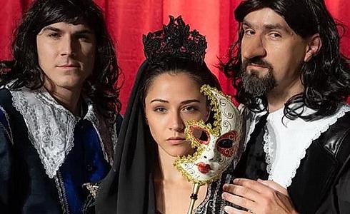David Gránský, Eva Burešová a Vojtěch Efler (Cyrano)