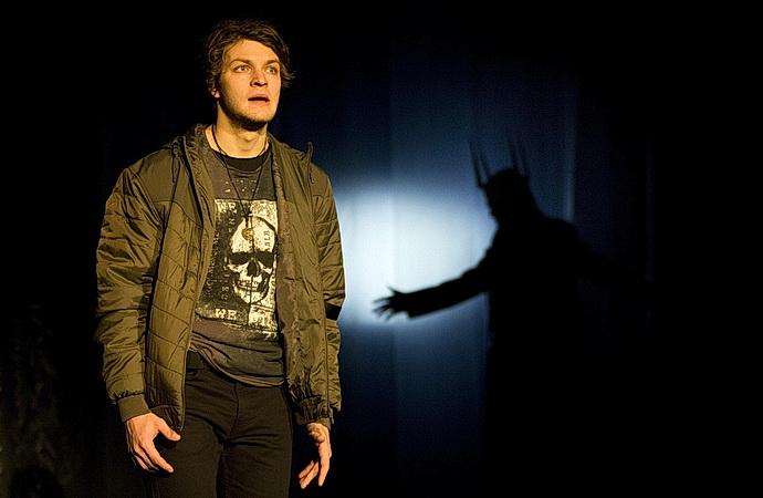 Matěj Štrunc jako Hamlet