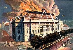 Požár prvního Národního divadla - 125 let