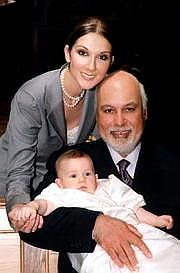 Celine Dion a René Anglila se synem (Foto z webu)