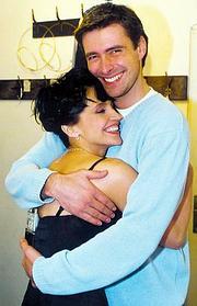 Šťastná Lucie Bílá se svým manželem (Foto z webu)