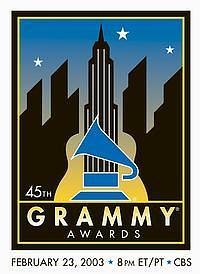 Oficiální logo 45. Grammy Awards (Z webu)