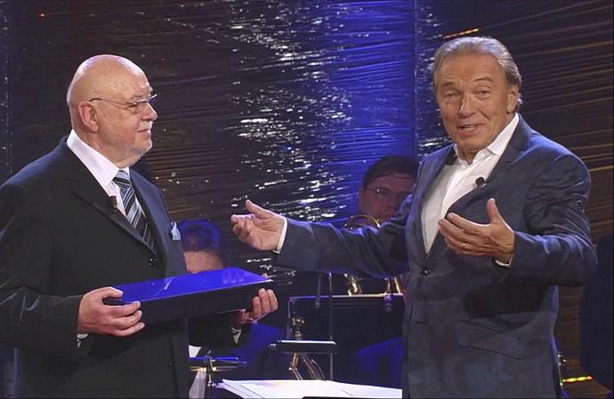 Václav Hybš a Karel Gott (Václav Hybš 80)