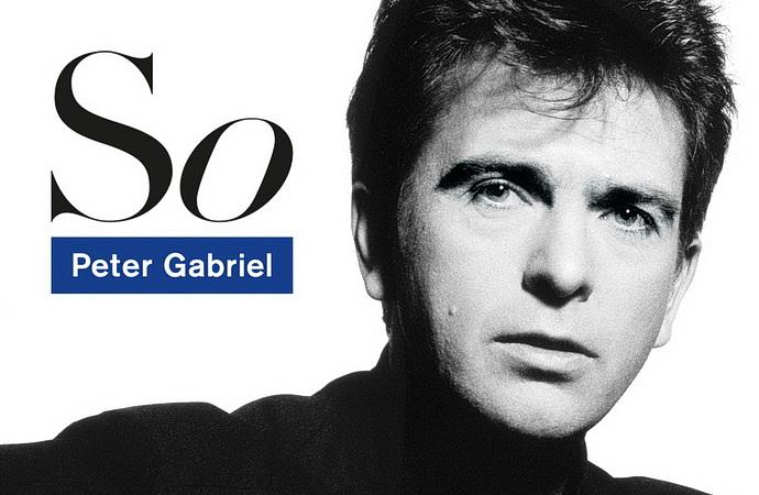 Peter Gabriel na přebalu alba So