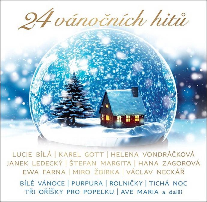 Přebal alba 24 vánočních hitů