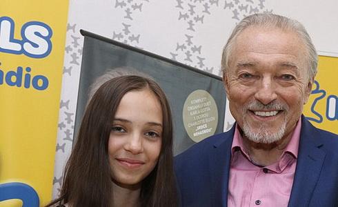 Karel Gott s dcerou Charlottkou