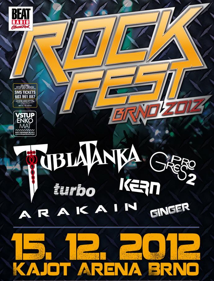 Rockfest Brno  - Tublatanka, Arakain, Progres2 a další