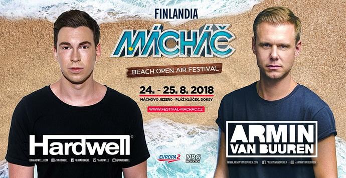 Hardwell a Armin van Buuren (Vizuál: Festival Mácháč 2018)