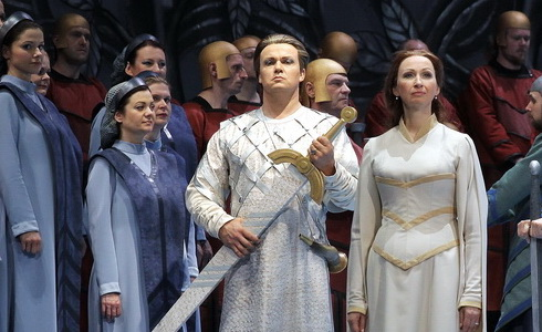 Z inscenace Lohengrin