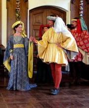 Vystoupení souboru Chorea Historica ve Švandově divadle