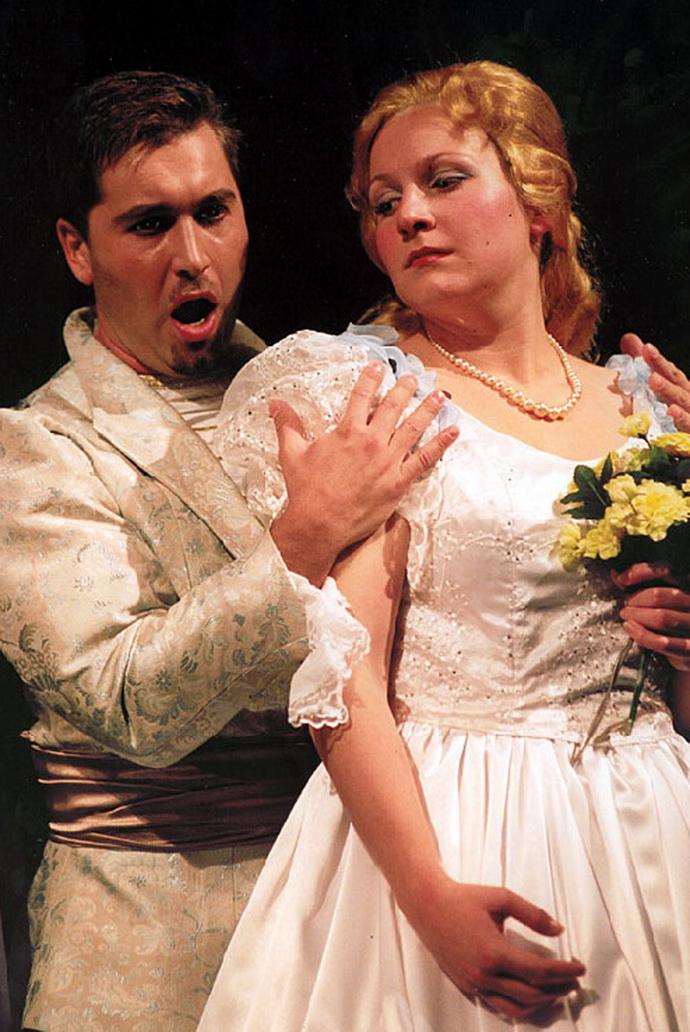 Richard Samek (Princ) a Ivana Veberová (Rusalka)