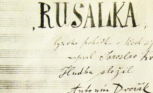 Originální partitura opery Rusalka