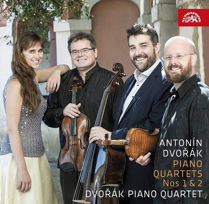 Přebal alba Klavírními kvartety č. 1 a č. 2