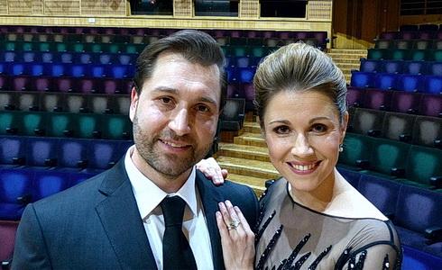 K. Kněžíková s R. Samkem po koncertě