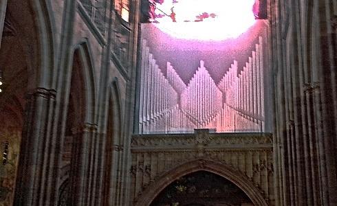 Vizualizace nových varhan na západním kúru katedrály