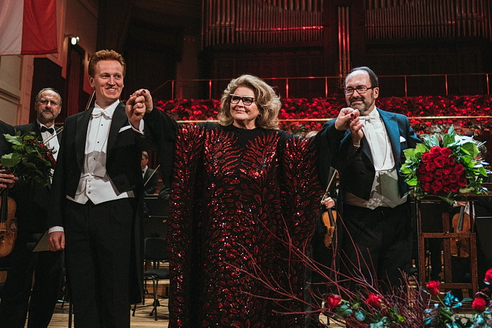 Gabriela Beňačková, Jakub Pustina a dirigent Dušan Štefánek