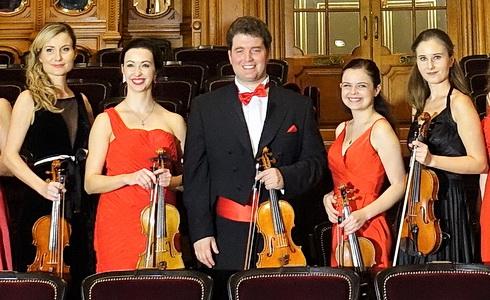 Ambroš Ladies Orchestra v sále Garnier Opery v Monte Carlu