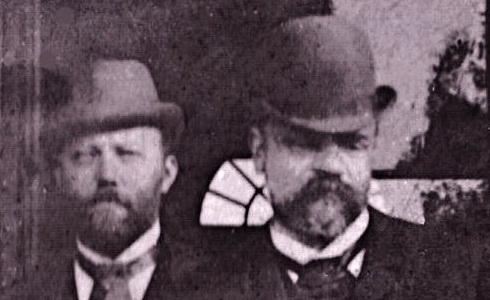 Dvořák spolu s Wihanem a Lachnerem na nádraží v N. Brodě