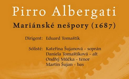 Novodobá premiéra barokních nešpor Pirra Albergatiho