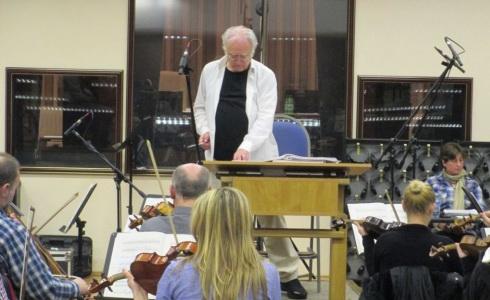 �esk� n�rodn� symfonick� orchestr a Carl Davis ve studiu