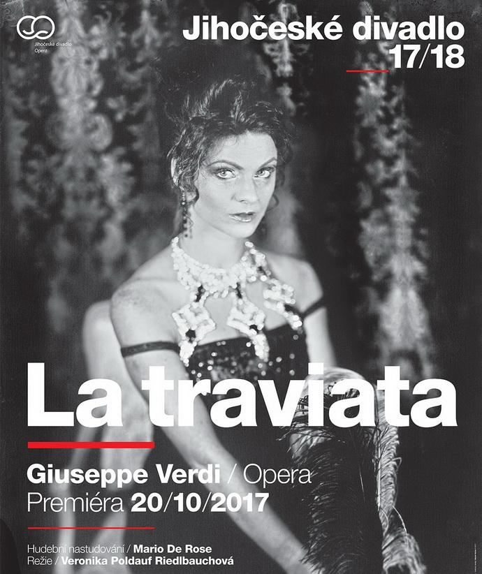 G. Verdi: La traviata (plakát k představení)