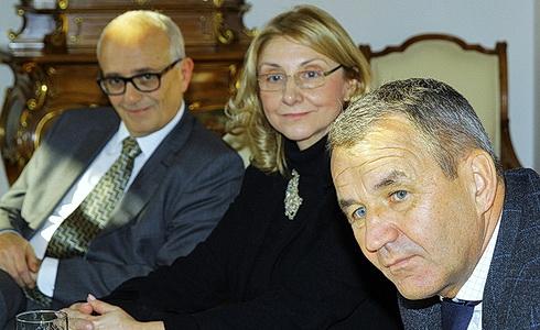 J. Burian, S. Hroncová a K.-H. Steffens na TK