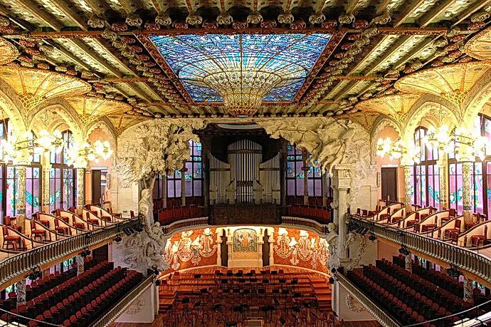 Palác katalánské hudby (Zdroj: Lohen11, wikimedia.org)