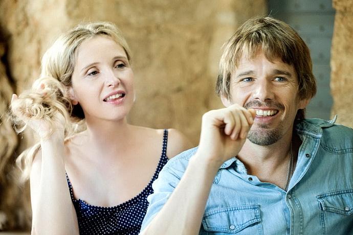 Julie Delpyová a Ethan Hawke (Před půlnocí)