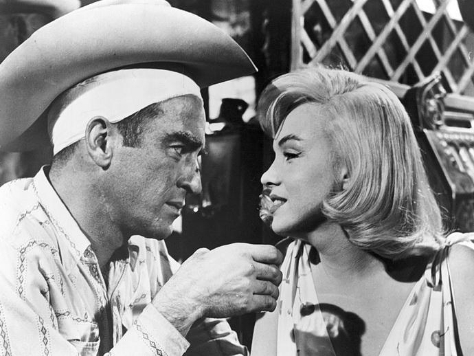 C. Gable a M. Monroeová (Mustangové)
