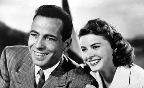 Humphrey Bogart a Ingrid Bergmanová (Casablanca)
