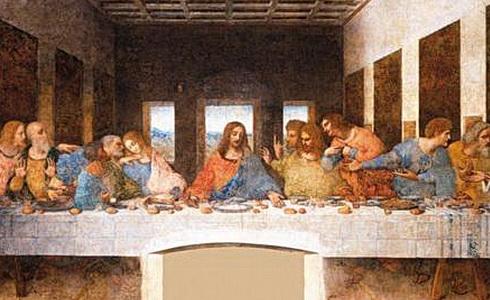 Freska Leonarda da Vinci Poslední večeře Páně