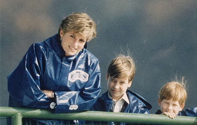 Diana, William a Harry