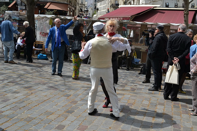 Tanec na Rue Mouffetard