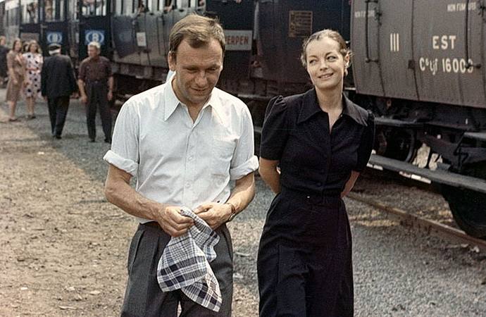 Jean-Louis Trintignant a Romy Schneiderová