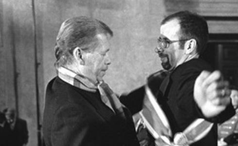 Pavel Koutecký s Václavem Havlem