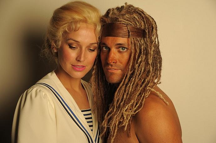 Petra Vojtková (Jane) a Robert Urban (Tarzan)