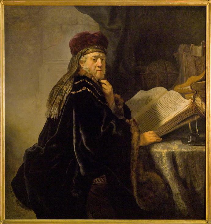 Rembrandt Harmenszoon van Rijn, Učenec ve studovně, 1634