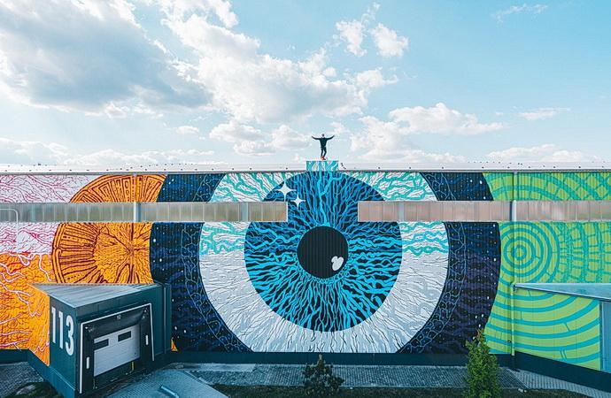 Mural art Kosmos (Foto: David Michalek)