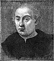 Kryštof Kolumbus, rytina podle malby Sebastiana del Piombo