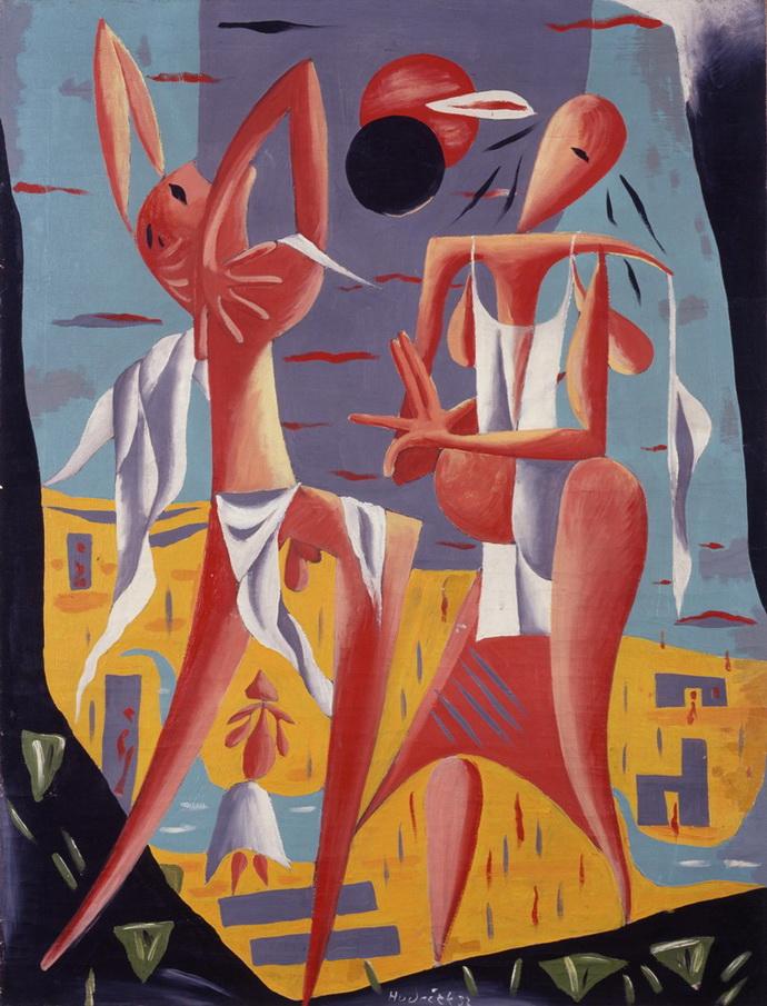 František Hudeček, Zatmění slunce, 1932
