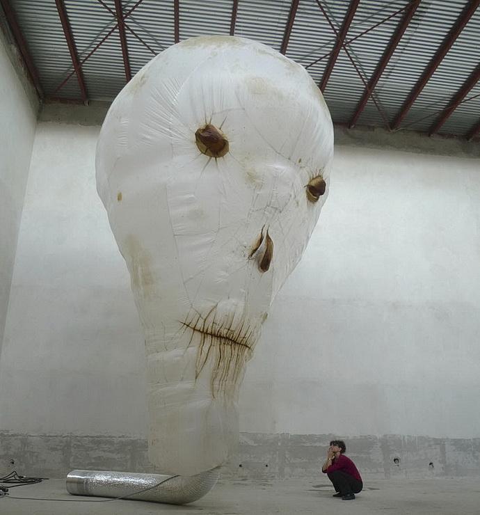 František Skála, Duch lebky, 2009, různé materiály